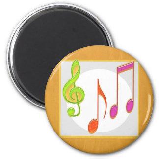 Símbolos de música multicolores de baile iman de frigorífico
