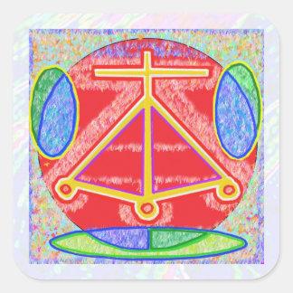 Símbolos de NOVINO ReikiHealing n KARUNA Reiki Calcomania Cuadrada Personalizada