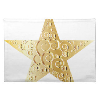Símbolos de oro de la estrella manteles individuales