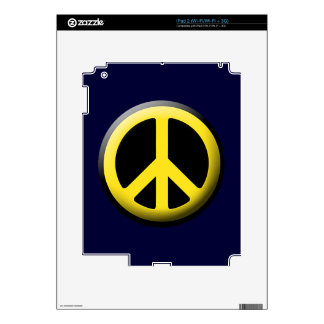 Símbolos de paz coloreados iPad 2 skin