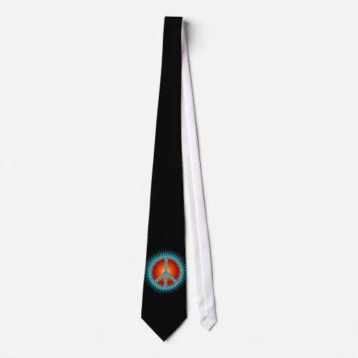 Símbolos de paz corbatas personalizadas