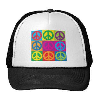 Símbolos de paz del arte pop gorros bordados