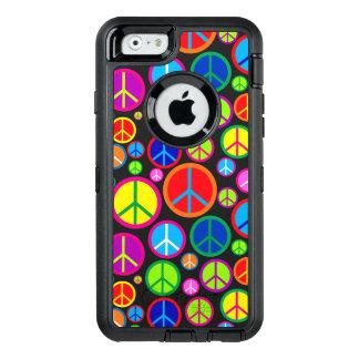 Símbolos de paz maravillosos coloridos frescos funda otterbox para iPhone 6/6s