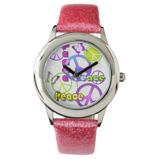 Símbolos de paz relojes de mano