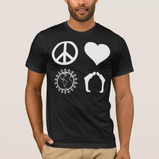 Símbolos de PLUR (camisa oscura) Playera
