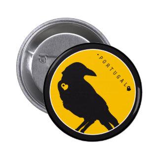 Símbolos de Portugal - cuervos Pin Redondo De 2 Pulgadas