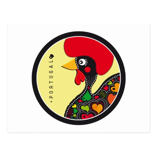 Símbolos de Portugal - gallo Tarjetas Postales