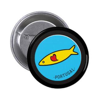 Símbolos de Portugal - sardina Nr. 02 Pin Redondo De 2 Pulgadas