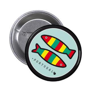 Símbolos de Portugal - sardinas Pin Redondo De 2 Pulgadas