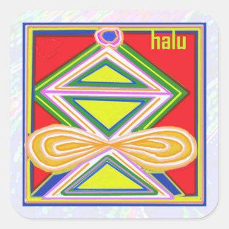 Símbolos de ReikiHealing n KARUNA Reiki Calcomania Cuadradas Personalizadas