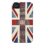 Símbolos de Reino Unido iPhone 4 Case-Mate Cárcasas