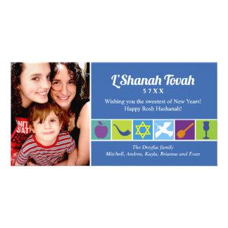 Símbolos de Rosh Hashanah Tarjeta Personal