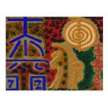Símbolos de USUI REIKI Tarjeta Postal