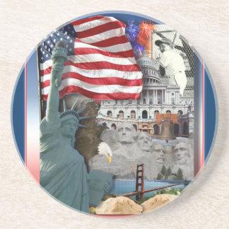 Símbolos del americano de los E.E.U.U. Posavasos Personalizados