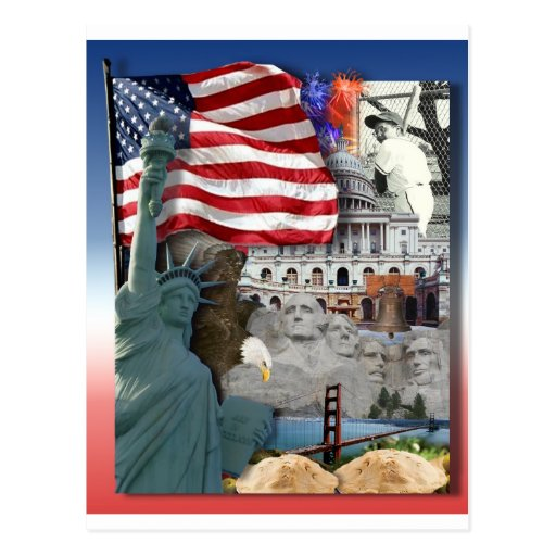 Símbolos del americano de los E.E.U.U. Tarjeta Postal