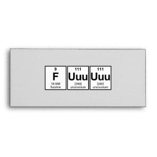 Símbolos del elemento de tabla periódica de Fuuuuu
