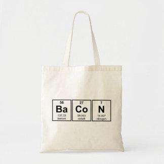 Símbolos del elemento de tabla periódica del bolsa tela barata