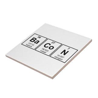 Símbolos del elemento de tabla periódica del tocin teja cerámica