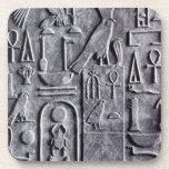 Símbolos del escarabajo de Ankh del egipcio del Eg Posavasos De Bebida
