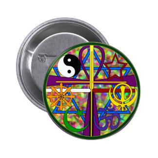 Símbolos del espiritual de la unidad pin