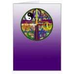 Símbolos del espiritual de la unidad tarjetón