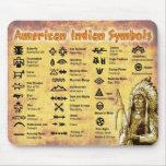 Símbolos del indio del nativo americano alfombrilla de ratones