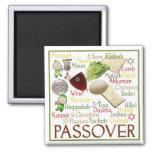 Símbolos del Passover Imán Cuadrado