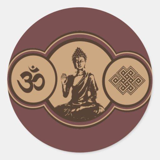 Símbolos del pegatina de Buda