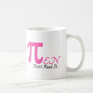 Símbolos del pi taza de café