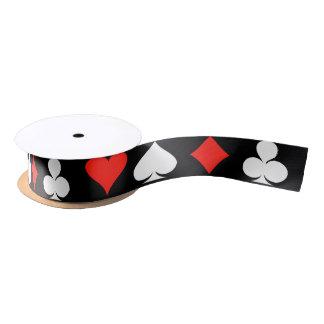 Símbolos del póker lazo de raso