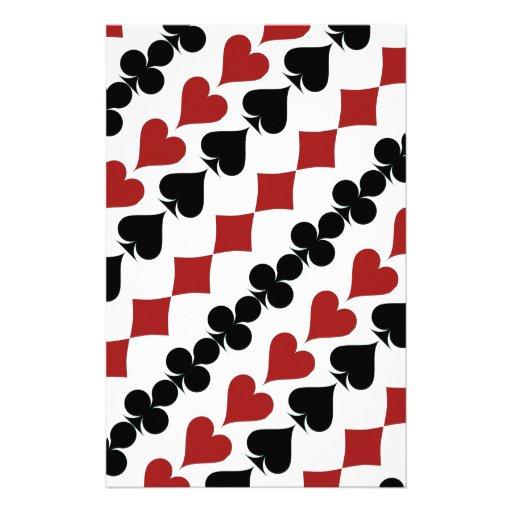 Símbolos del póker papelería personalizada