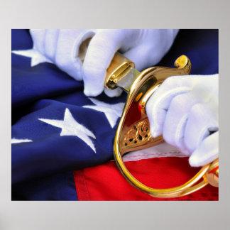 Símbolos del poster del Cuerpo del Marines de Esta
