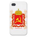 Símbolos del ruso del molot de Serp i iPhone 4 Coberturas
