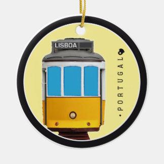 Símbolos del tranvía de Portugal - de Lisboa Adorno Redondo De Cerámica