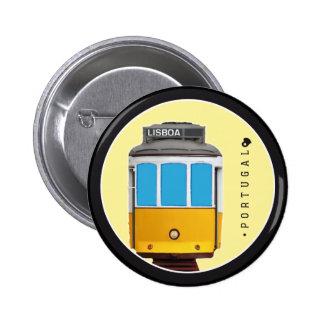 Símbolos del tranvía de Portugal - de Lisboa Pin Redondo De 2 Pulgadas