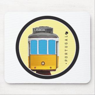 Símbolos del tranvía de Portugal - de Lisboa Alfombrillas De Raton