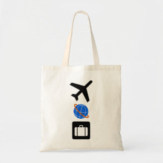 Símbolos del viaje bolsa tela barata