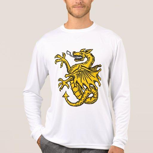 Símbolos e ilustraciones del dragón camisetas