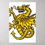 Símbolos e ilustraciones del dragón posters