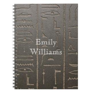 Símbolos egipcios de la escritura de Egipto Libros De Apuntes