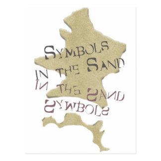 Símbolos en la arena postal