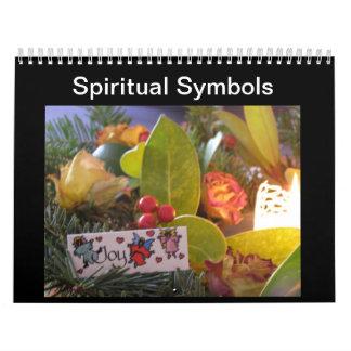 Símbolos espirituales calendario de pared