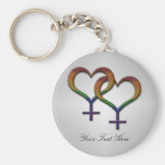 Símbolos femeninos del género del arco iris llavero redondo tipo pin