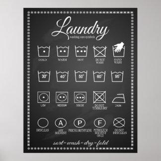 Símbolos infographic del poster del lavadero