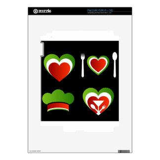 Símbolos italianos de la cocina calcomanías para iPad 2