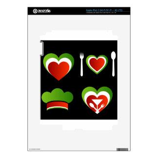 Símbolos italianos de la cocina pegatinas skins para iPad 3