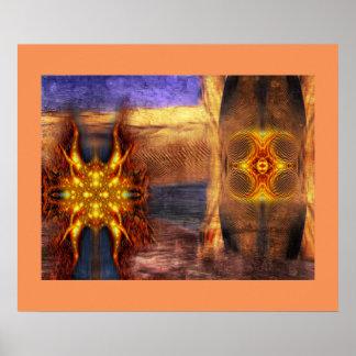 Símbolos mágicos del sector 7 póster