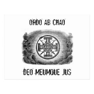 Símbolos masónicos ORDO AB CHAO Postales