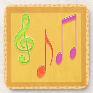 Símbolos musicales de baile posavasos de bebidas