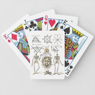 Símbolos ocultos cartas de juego